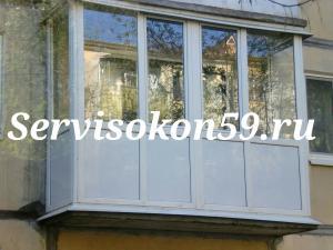 Застеклить балкон в Перми