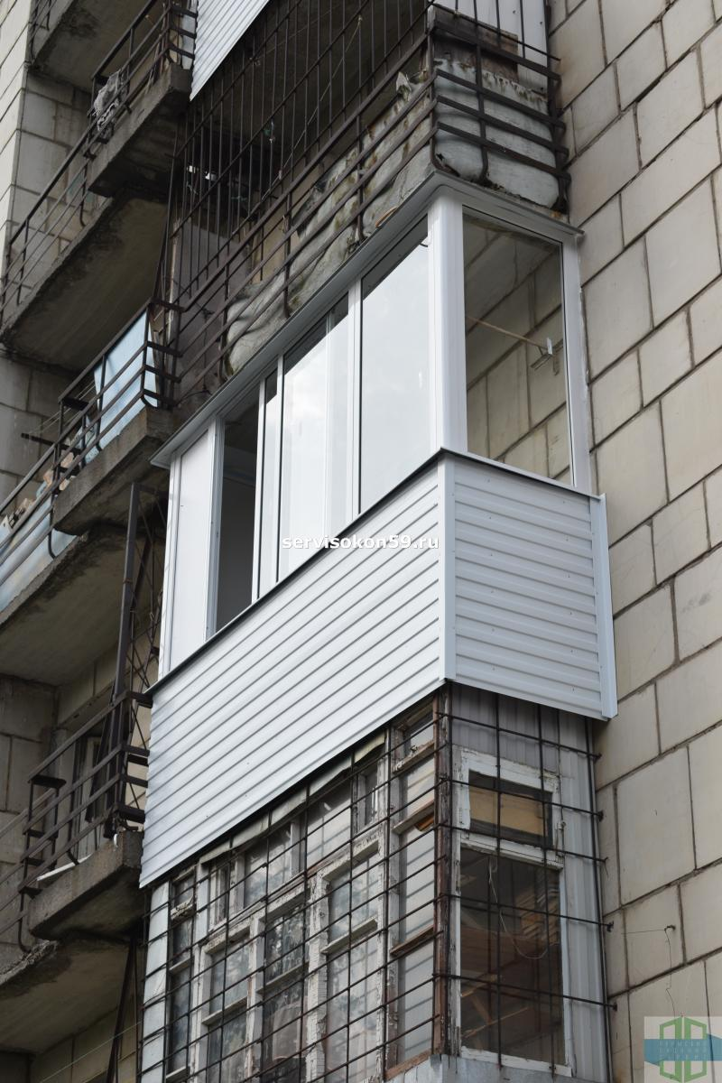 Остекление балконов алюминиевым профилем